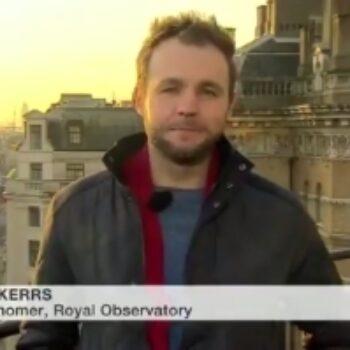 Tom talks about the Supermoon on BBC Breakfast