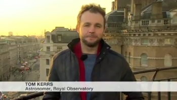 Tom talks about the Supermoon on BBC Breakfast