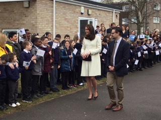 Duchess Of Cambridge Visits Pegasus Primary School, Oxford