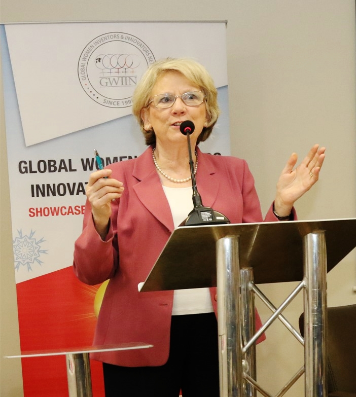 Roz speaking at the GWIIN conference 2019