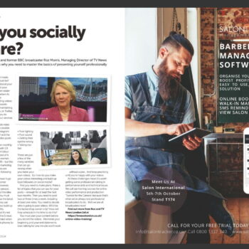TV News London Social Media Training Features in The Barber Magazine