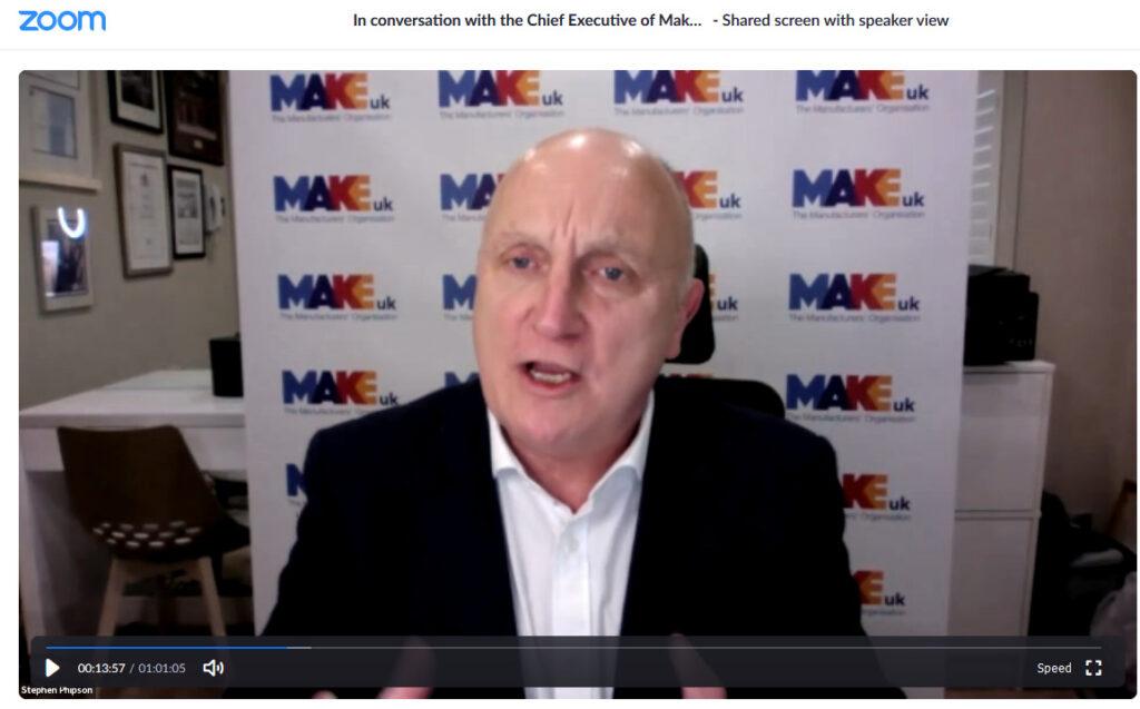 Stephen Phipson CBE, CEO of MAKE UK