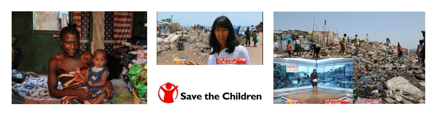 Working with  ITV broadcaster Ranvir Singh in Sierra Leone for Save the Children